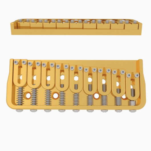 9 String Fixed Guitar Bridge