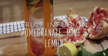 Fruit Infusion Recipe - Pomegranate, Mint & Lemon