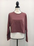 Faded Causal Sweater with Front Pocket- Pink