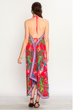 This light weight, super sexy maxi dress is a dream. Its comfortable and stylish. looks great with a wedge or strappy sandal.