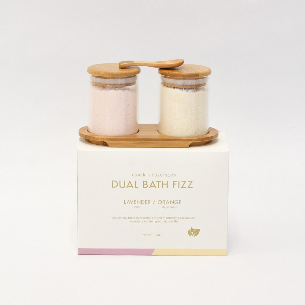 Yuzu Soap - Dual Bath Fizz Set - Lavender and Orange