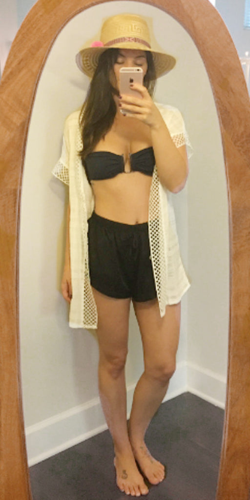 off white beach cover up