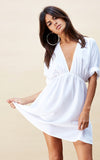 SANTORINI TUNIC DRESS IN WHITE by Dancing Leopard