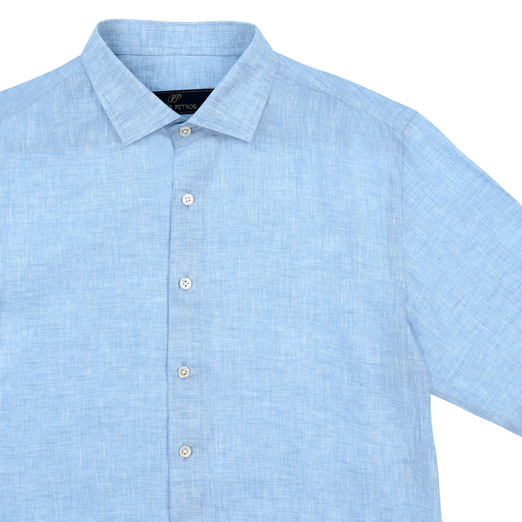Laos Linen Shirt - Blue
