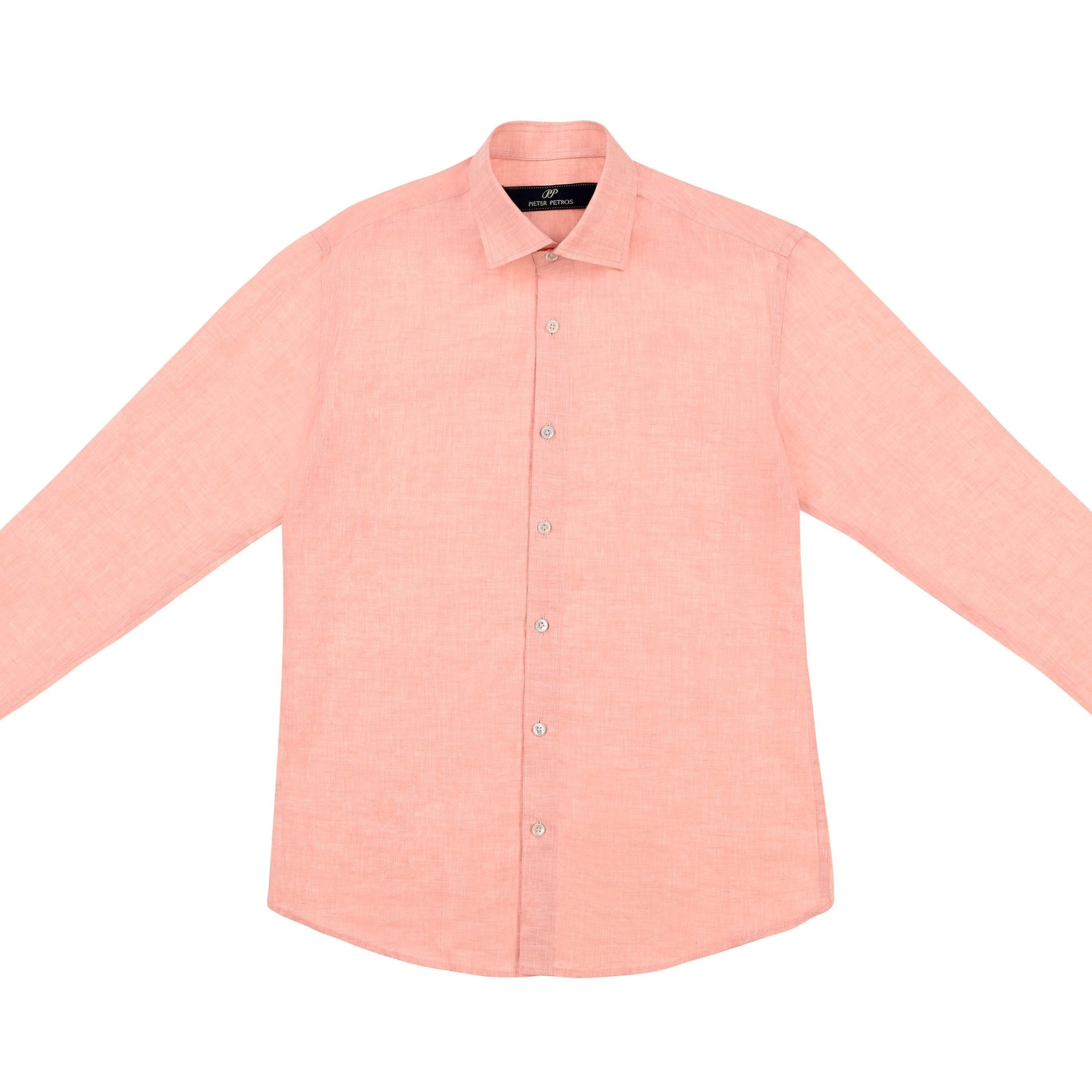 Laos Linen Shirt - Orange - PIETER PETROS ® STORE