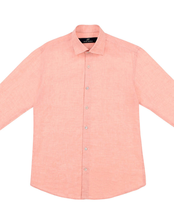 Laos Linen Shirt - Orange