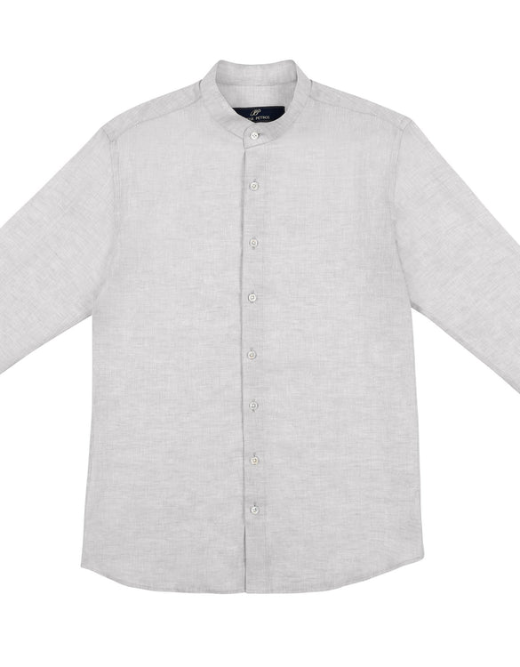 Male Linen Shirt - Grey