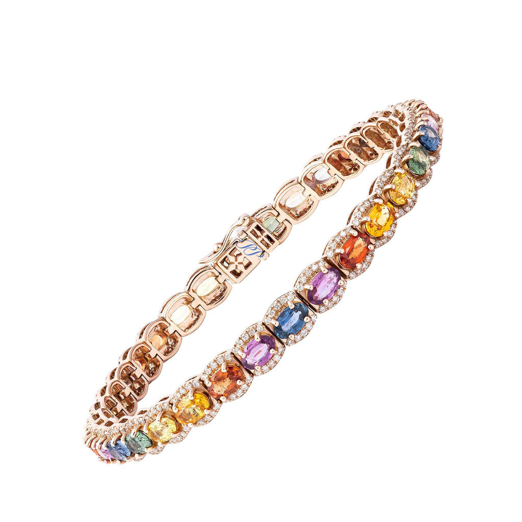 PP Bracelet 18 k Gold - Multi-Colour Sapphires