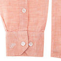 Male Linen Shirt - Orange