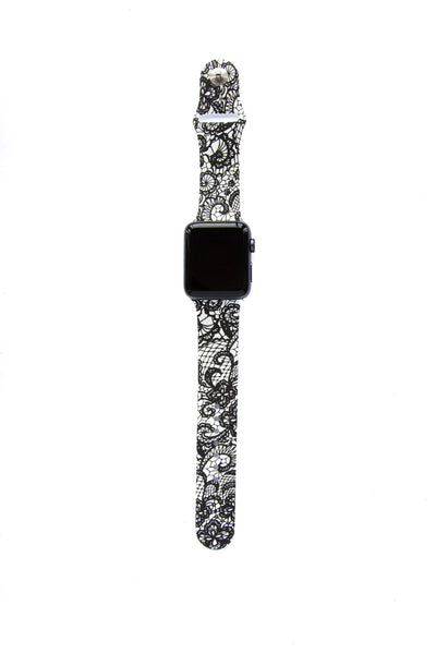 Black and White Paisley - Watch Band - FSX Labs