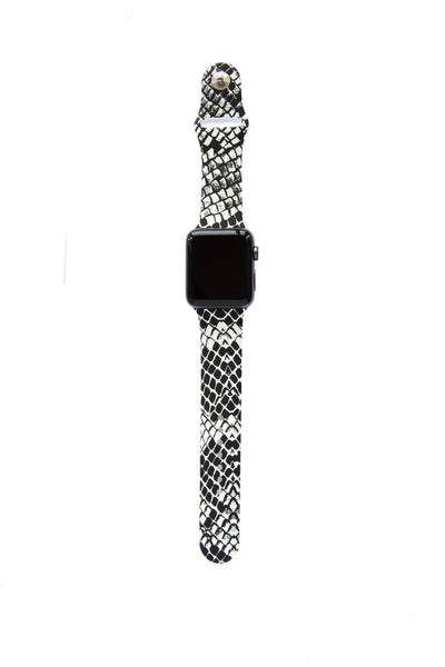 Black and White Snake Skin - Watch Band - FSX Labs