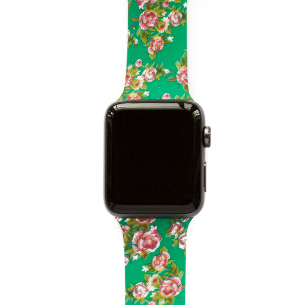 Romantic Garden Green Roses - Watch Band - FSX Labs