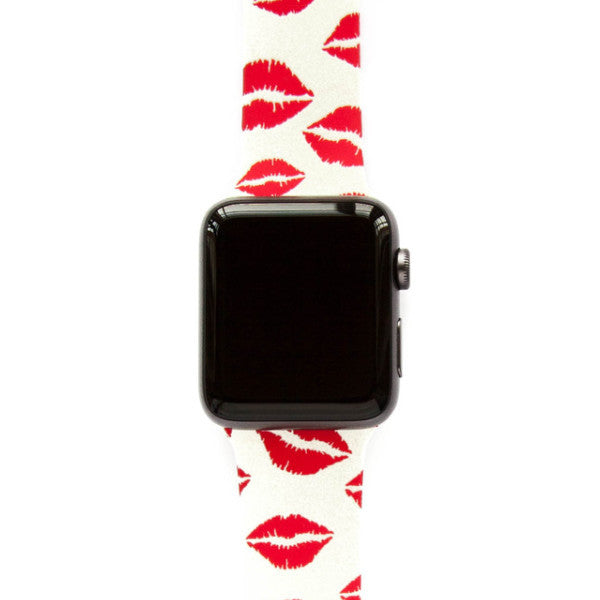 Red Lipstick Kisses - Watch Band - FSX Labs