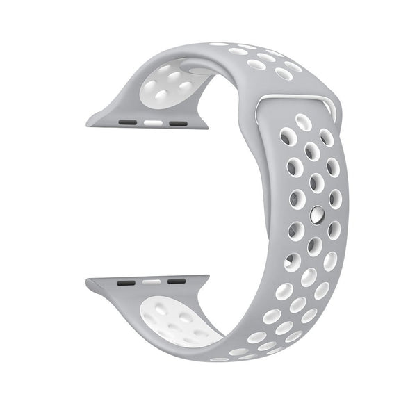Silver / White - Apple Watch Band - Sports Edition - Watch Band - FSX Labs