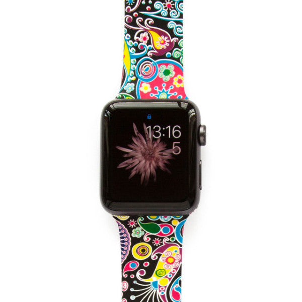 Wacky Paisley Black - Watch Band - FSX Labs