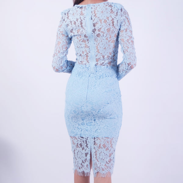 257775b992 CORDELIA FITTED LACE TOP   SKIRT MATCHING SET – POSACollective
