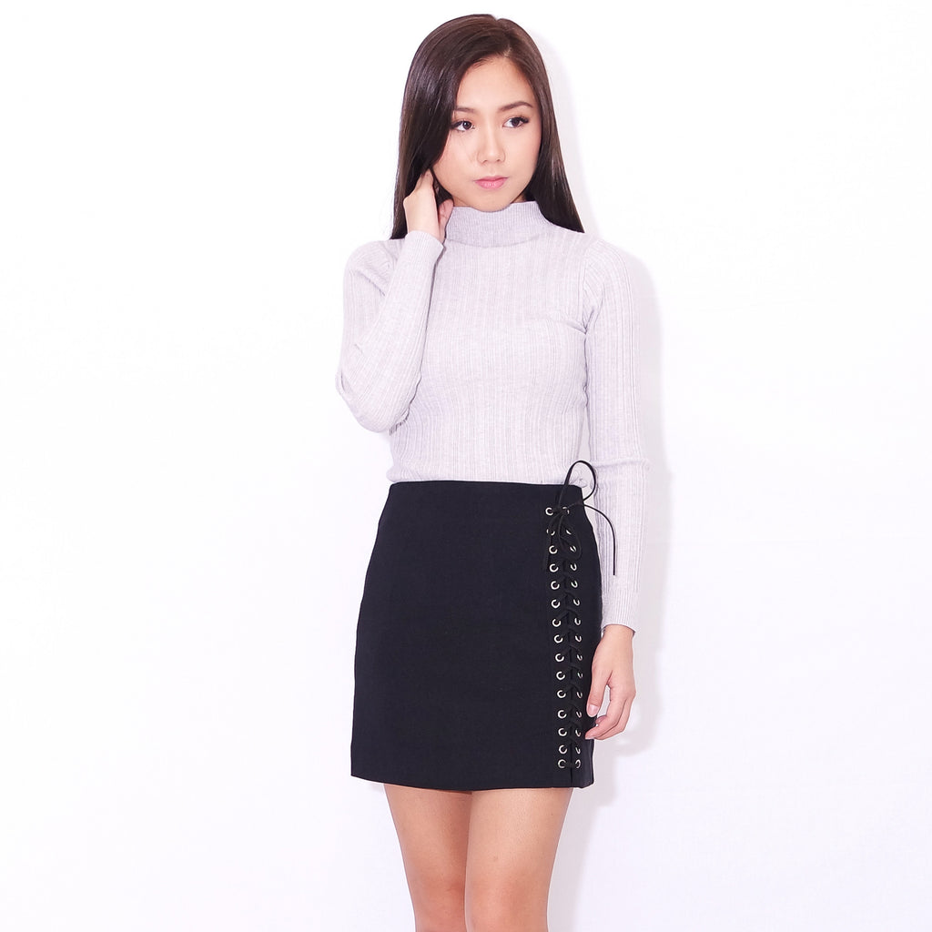 78cff375f3 RUMI lace-up skirt in black – POSACollective
