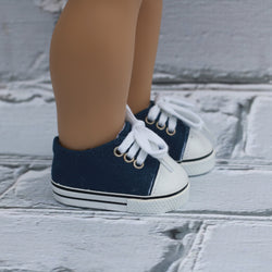 18 Inch Doll Shoes | Blue Sneakers
