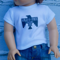 18 Inch Doll Clothes | Wild & Free Bird Graphic T-Shirt