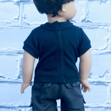18 Inch Doll Clothes | Black Polo Shirt