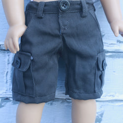 18 Inch Doll Clothes | Brown Cargo Shorts