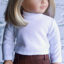 18 Inch Doll Clothes | White Long Sleeve Top