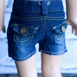 18 Inch Doll Clothes | High Waist Distressed Denim Shorts