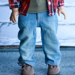 18 Inch Doll Clothes | Loose Fit Jeans