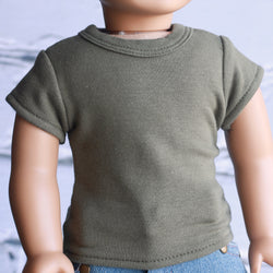 18 Inch Doll Clothes | Olive Green T-Shirt