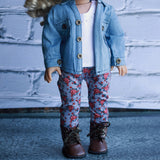 18 Inch Doll Clothes | Floral Leggings