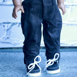 18 Inch Doll Clothes | Black Joggers Pants