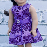 18 Inch Doll Clothes | Purple Special Occasion Dress