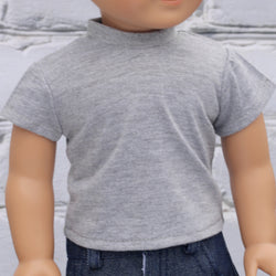 18 Inch Doll Clothes | Light Gray T-Shirt