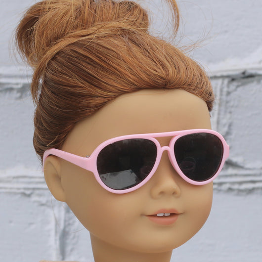 18 Inch Doll Accessories | Pink Aviator Sun Glasses for dolls such as American Girl