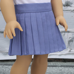 18 Inch Doll Clothes | Periwinkle Pleated Skirt