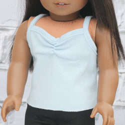 18 Inch Doll Clothes | Light Blue Knit Cami