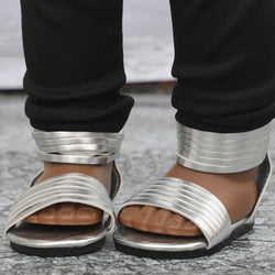 18 Inch Doll Shoes | Silver Strap Sandal