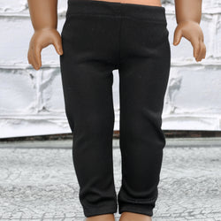 18 Inch Doll Clothes | Soft Sheen Black Leggings