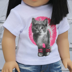 18 Inch Doll Clothes | KItty Princess Graphic T-Shirt