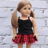 18 Inch Doll Clothes | Black Knit Cami