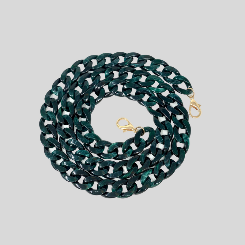 Malachite Dark Green Resin Chain