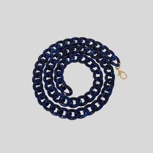 Navy Resin Chain