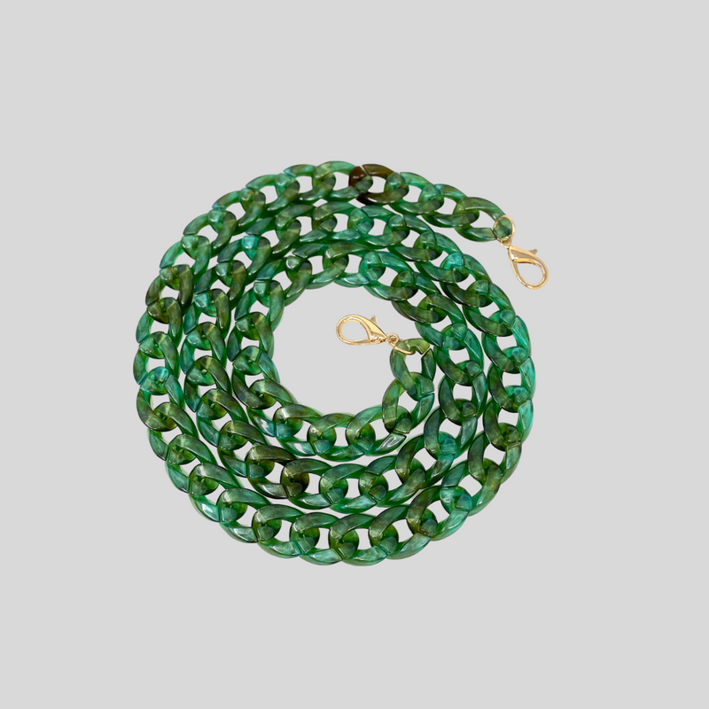 Translucent Green Resin Chain