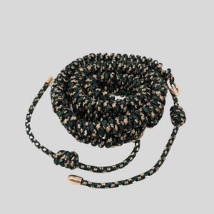 Green, Black & Beige Camouflage Woven Strap