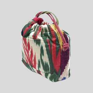 Green & Red Cotton & Silk Ikat