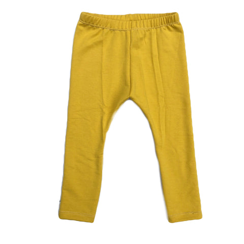 Mustard Bamboo French Terry Leggings