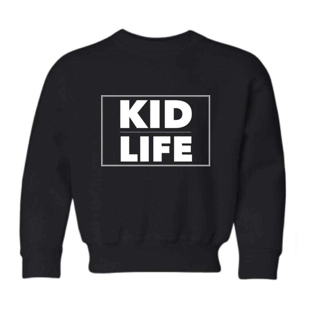 Crew Neck Black Kid Life