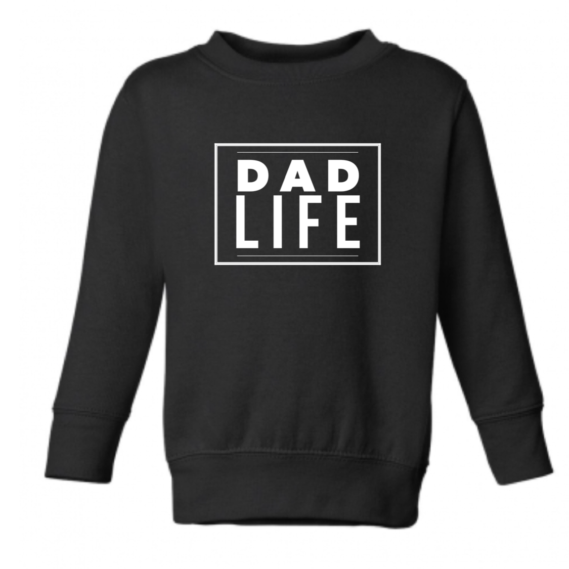 Crew Neck Black Dad Life