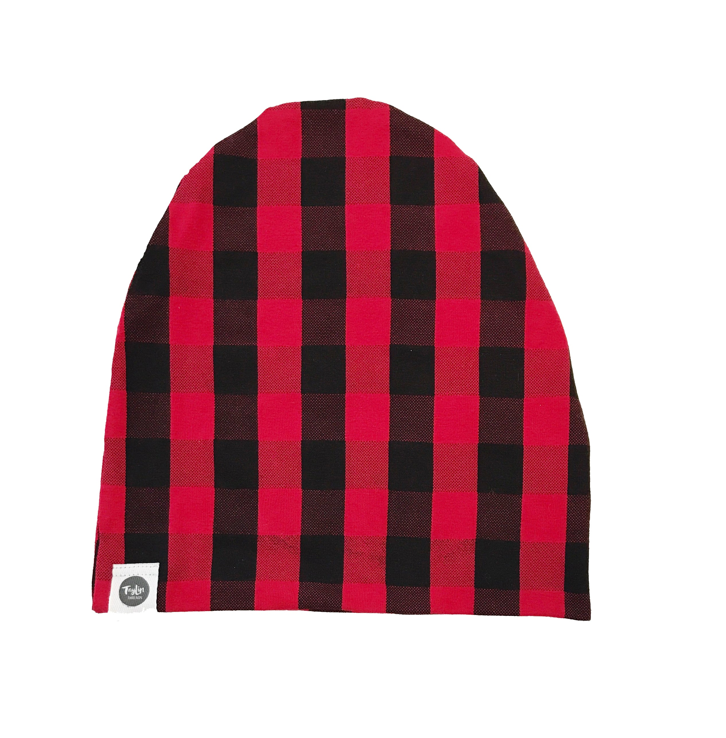 Bamboo French Terry Buffalo Plaid Beanie