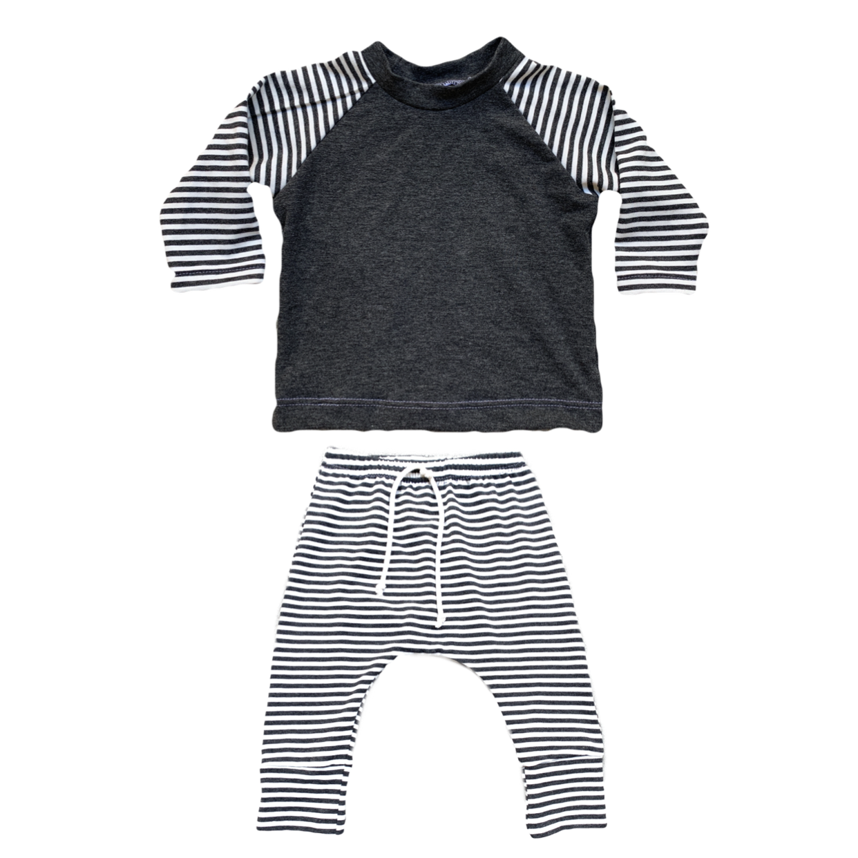 Bamboo Charcoal Stripe Outfit